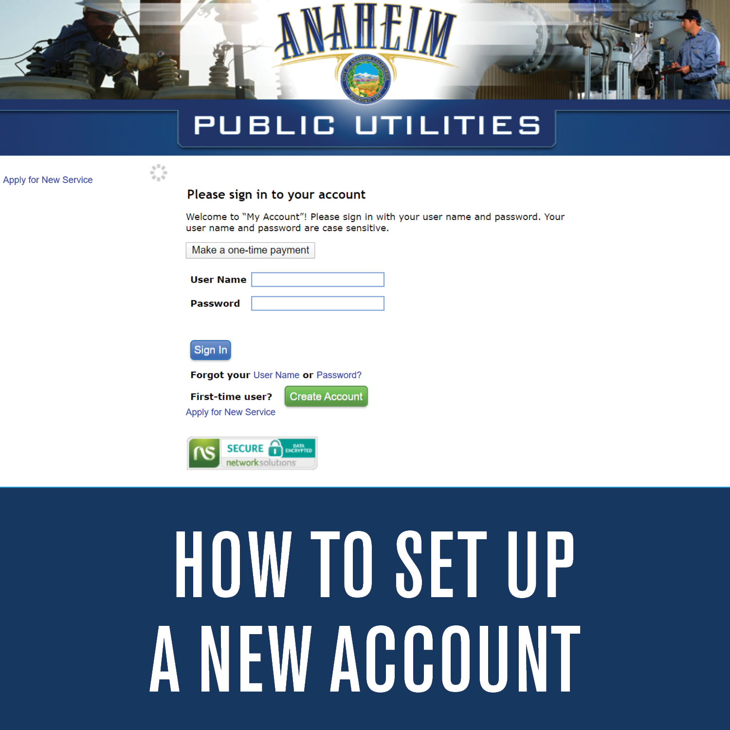 How To Setup A New Account