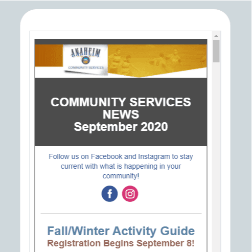 Community Services Newsletter Image