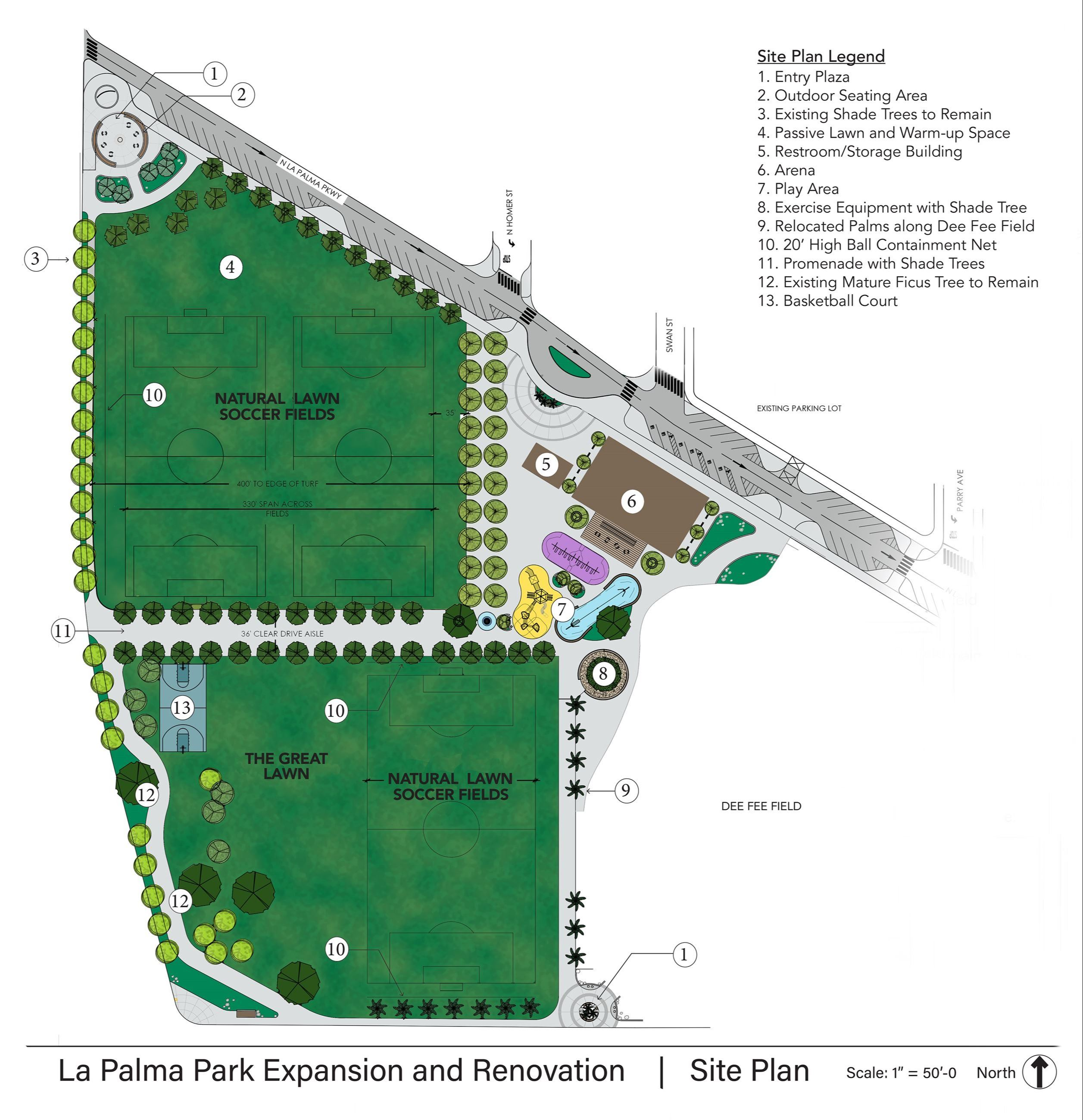 La Palma Site Plan_Color