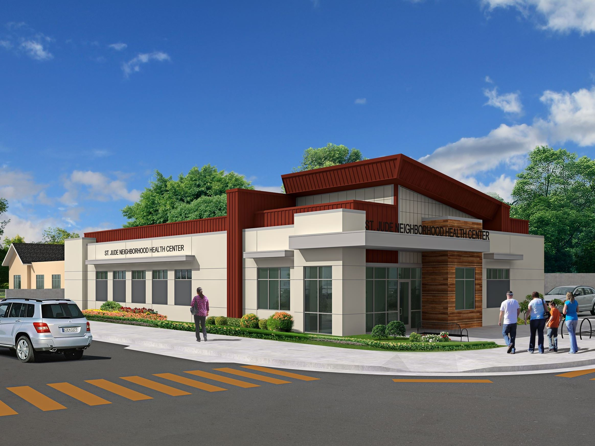 St. Jude Neighborhood Clinic_Exterior Elevation Rendering