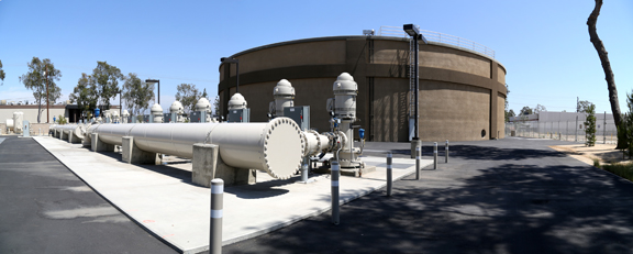 View of pipes outside Linda Vista Complex